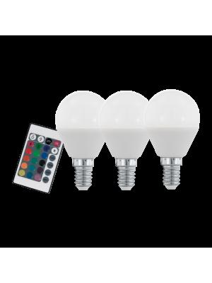 10683 LED-лампа набор 3X E14-P45 RGBW 4W EGLO
