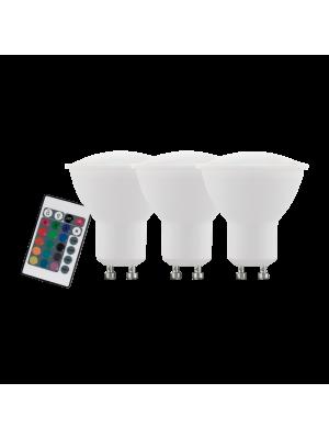 10687 LED-лампа набор 3X LM-GU10 RGBW 4W EGLO