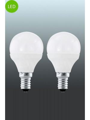 10775 LED-лампа LM-E14-LED P45 4W 3000K 2ER-SET EGLO
