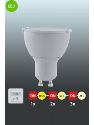 11541 LED-лампа LM-GU10-COB LED 5W 3000K 3XDIMMB.1 STK EGLO